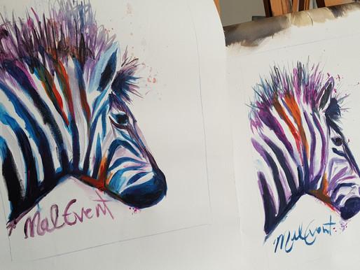 MalEvent unter dem Motto: Die Zebras sind los