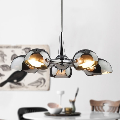 Modern 70s Glam Smoked Glass Chandelier Lighting BLOG: Mern Interior Design