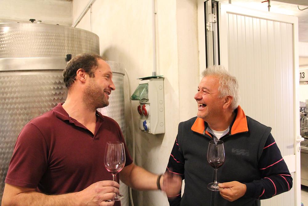 Giorgio Clai (founder) & Dimitri Brecevic (manager) - Clai Winery