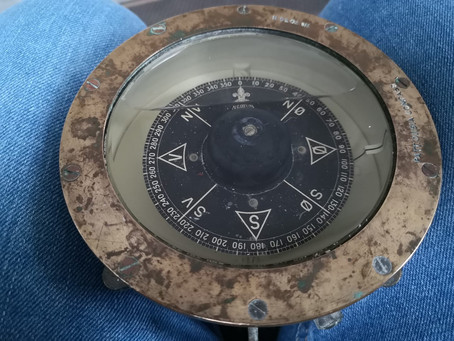 Nytt (gammelt) kompass til båten!