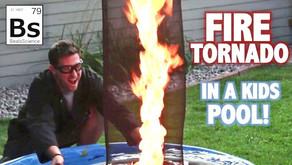 Fire Tornado in a Kiddie Swimming Pool