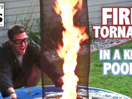 Fire Tornado in a Kiddie Swimming Pool