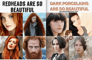 Redheads and Dark porcelains are so beautiful!