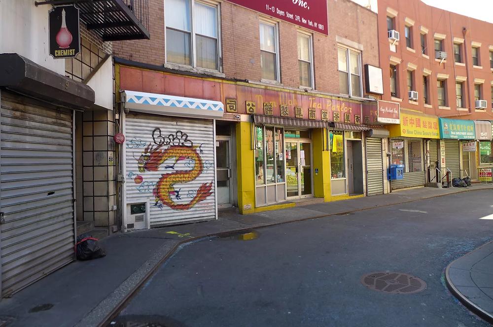 An empty Chinatown during the coronavirus pandemic