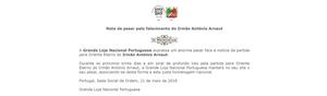 Nota de Pesar emitida pela Grande Loja Nacional Portuguesa | www.glantigos.org | Partida para Oriente Eterno do Irmão António Arnaut.