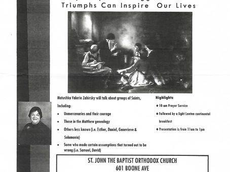 Advent Retreat: Surprising Saints