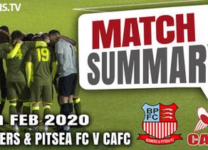 Match summary - Bowers & Pitsea