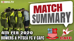 Match summary - Bowers & Pitsea