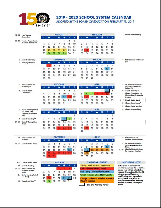 Newark Public Schools Calendar 2019 2020 Approved School Calendar