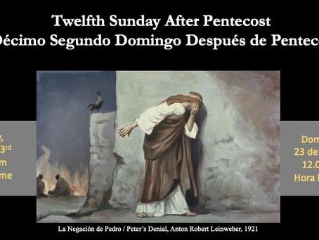 Sunday Service (Spanish) August 23, 2020