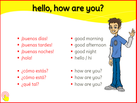 We are learning Spanish greetings!