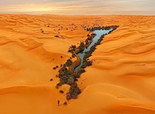 Le lac Oum El Ma, la mère de l'eau en Lybie