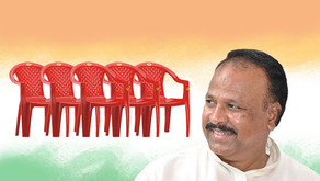 Upset over denial of ticket for the Lok Sabha, Congress MLA took away about 300 chairs