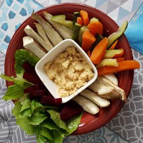 Pinzimonio caldo di patate americane e verdure