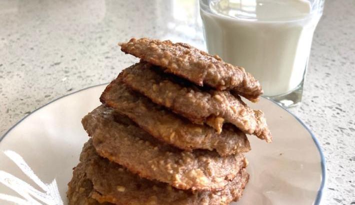 banana oats cookie