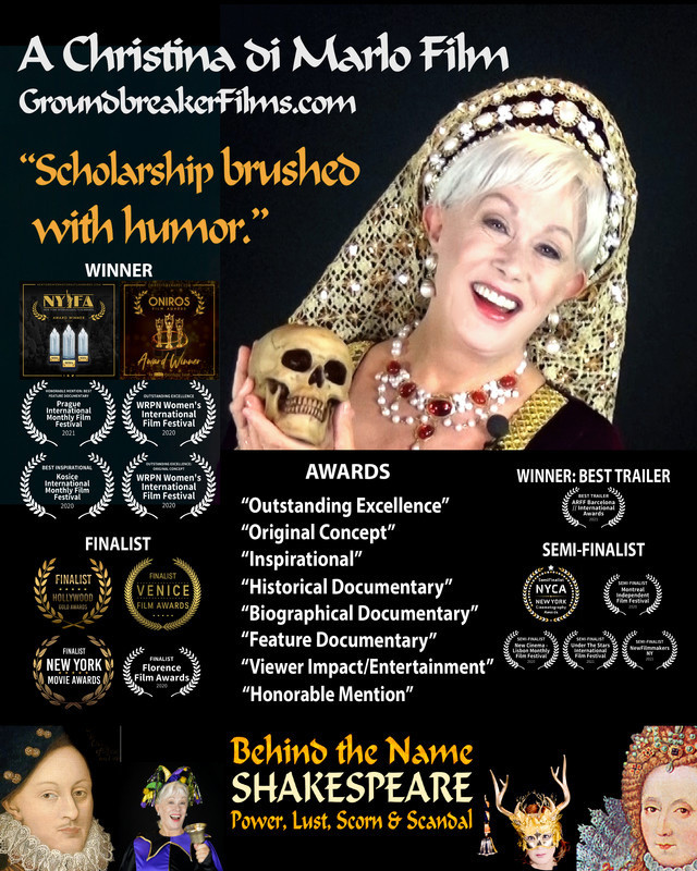 Poster for Behind the Name SHAKESPEARE: Power, Lust, Scorn & Scandal showing Robin Phillips.