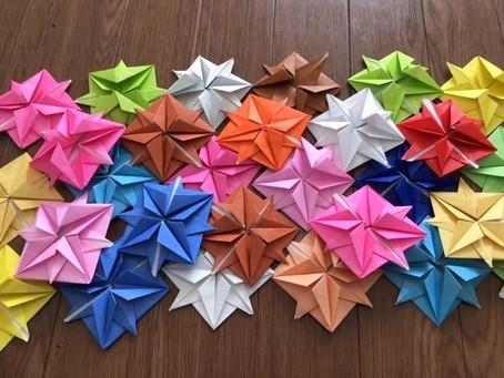 折り紙に集中。