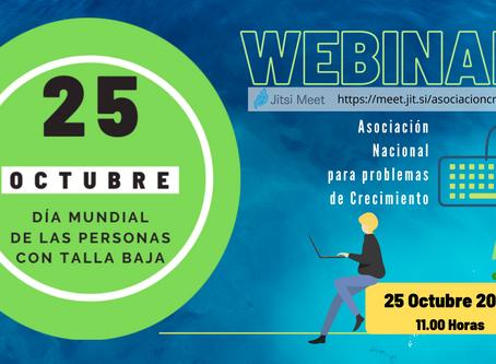WEBINAR ( 25-10, Día Mundial de la personas con Talla Baja )