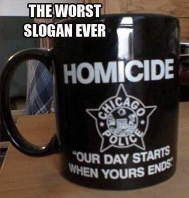 Funny Homicide Coffee Cup Meme