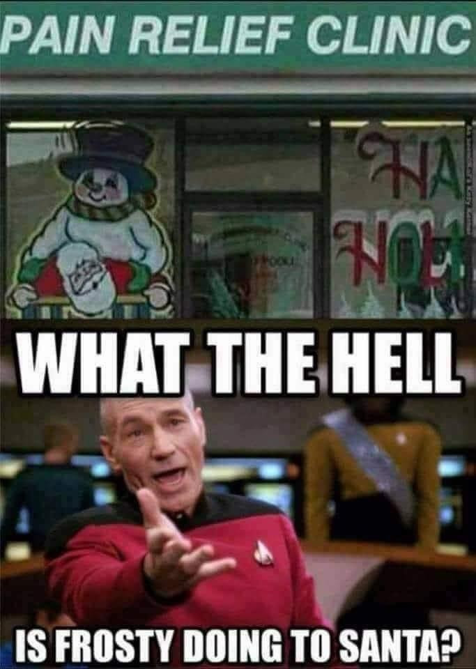 Pain Relief Clinic - What the Hell is Frost doing to Santa?