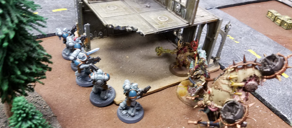 Thursday night Warhammer battle