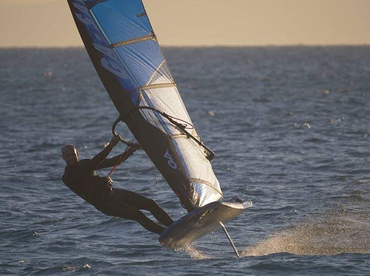 Sebastian Koerdel on Starboard board and foil