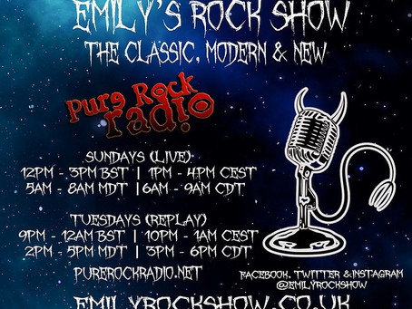 (Podcast) Emily's Rock Show (09/27 + 09/29)