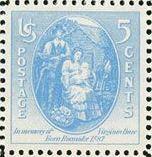 Scott 796 Virginia Dare Firstborn in Roanoke Stamp