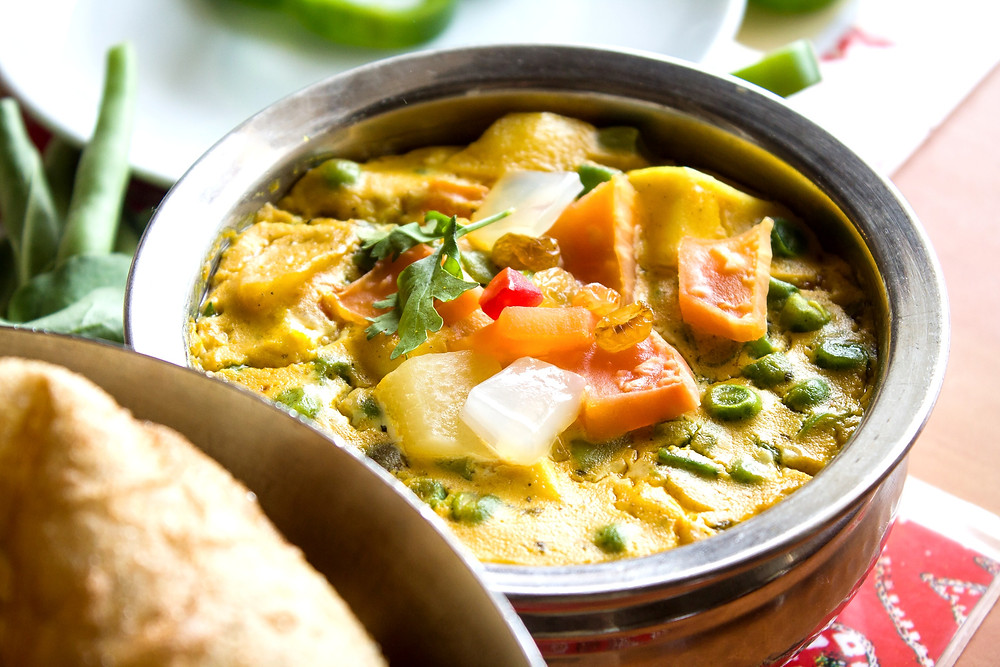 Asian-style vegan coconut curry