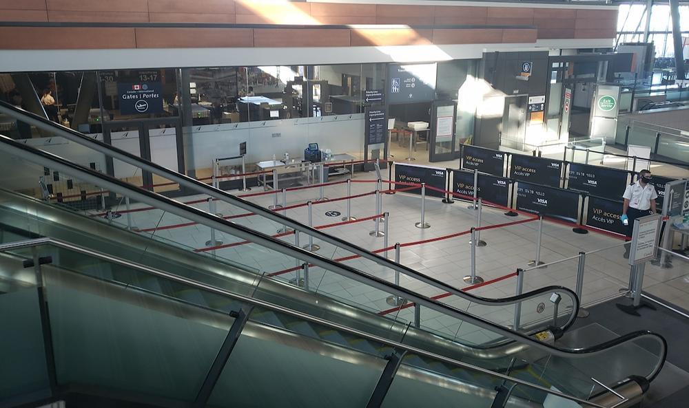 Security lineup, Ottawa International Airport