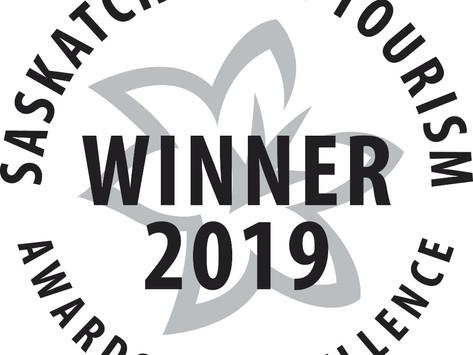 SASKATCHEWAN TOURISM 2019 AWARDS OF EXCELLENCE FINALIST; FRED HEAL TOURISM AMBASSADOR CATEGORY