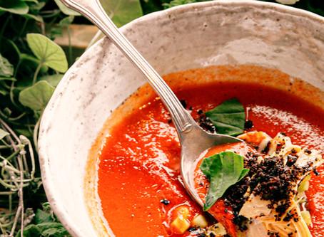 Wassermelonen Gazpacho | Erfrischende klate Suppe - Perfekt für heiße Sommertage| Vegan