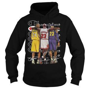 newest c9b88 74d19 Kobe Bryant Michael Jordan and Lebron James Champion shirt