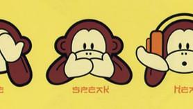 Tři opičky - nevidím, neslyším, nemluvím