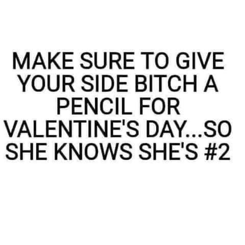 Funny Side Bitch Valentine's Meme