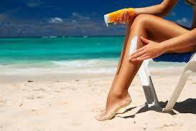 Protetor solar colorido barra dano da luz visível à pele