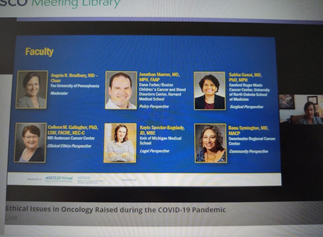Ethics of Oncology Care During the COVID19 Pandemic