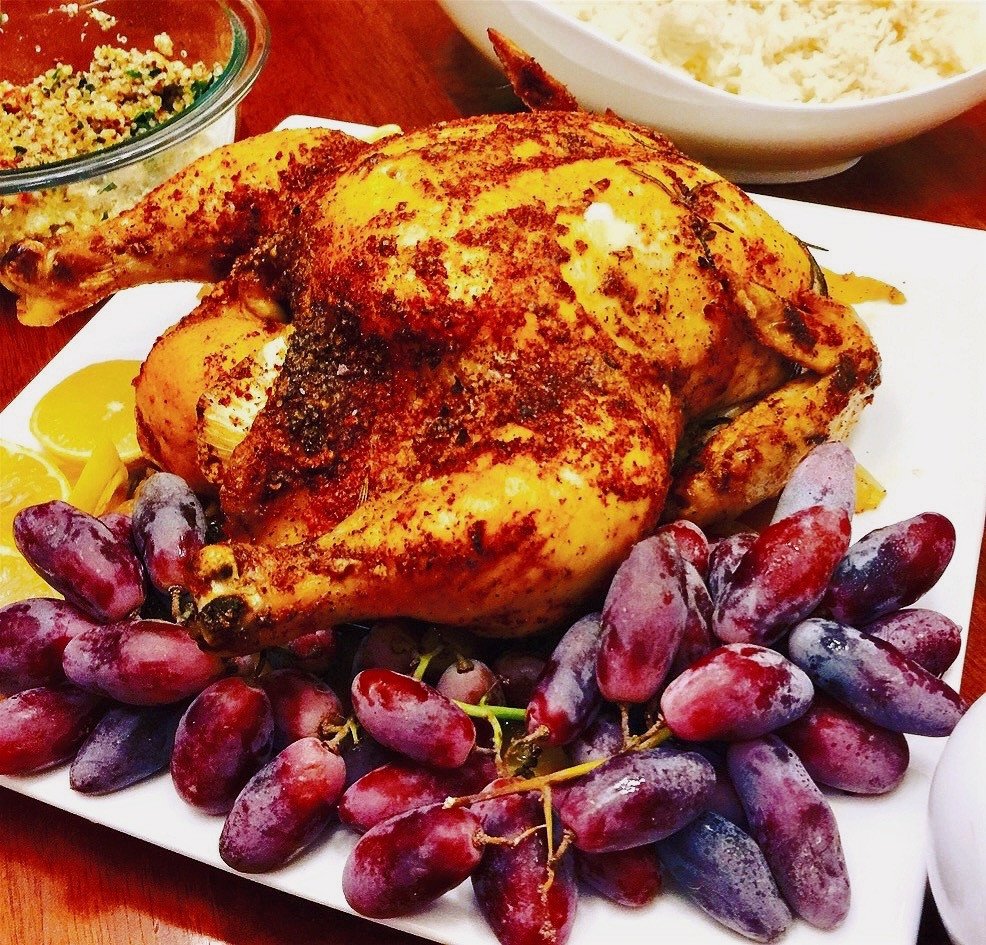 Simple Roasted Chicken with Herbs