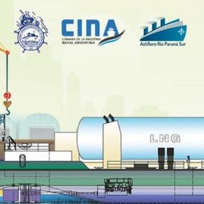 Primer buque a GNL íntegramente construido  en la Argentina