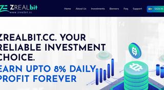 ZrealBit - новый динамичный проект в портфеле c доходностью от 6% в сутки, страховка 200$