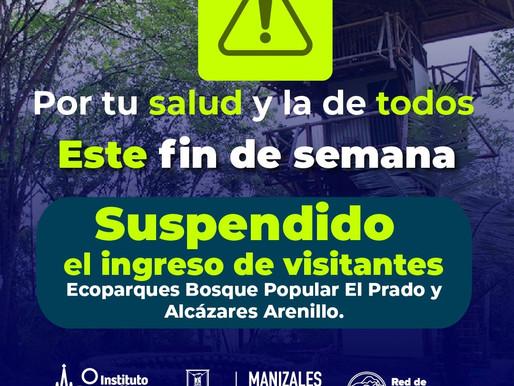 ESTE FIN DE SEMANA LOS ECOPARQUES BOSQUE POPULAR Y LOS ALCÁZARES NO PERMITIRÁN INGRESO A VISITANTES