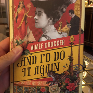 Dennis, reading AND I'D DO IT AGAIN by Aimee Crocker