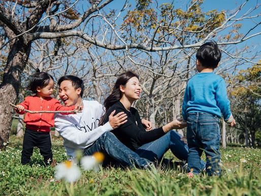 親子寫真。韓風小哥哥與妹妹。2+3歲