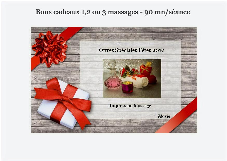 Offre spéciale fin d'année massage 95