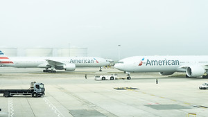 American Airlines aircraft on the tarmac at Heathrow