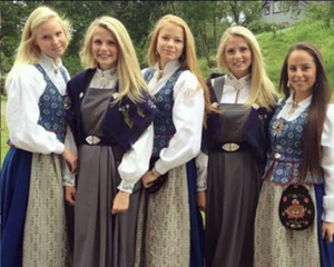 Brunette women stand out in northern Europe