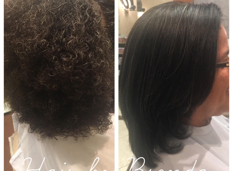 Woman's Haircut Style with Flat Iron
