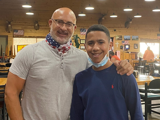 You can't visit Louisiana and not eat at one of the best food places, even Jim Cantore can't.