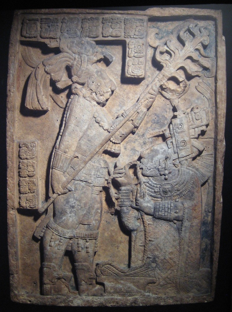 Maya relief depicting Lady Xoc
