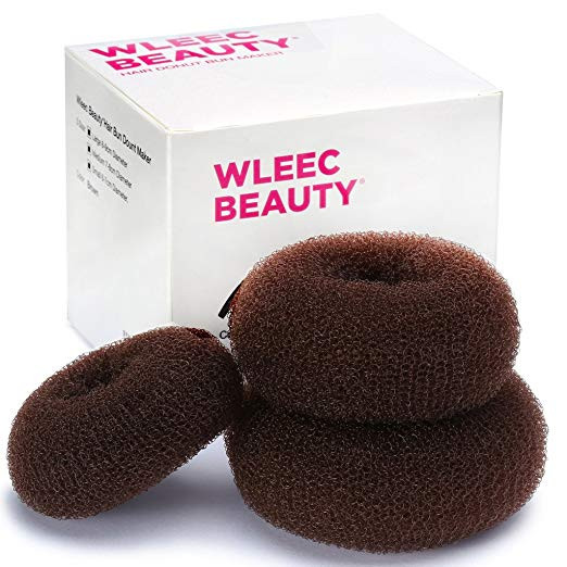 Three Pieces Hair Donut Bun Maker by Wleec Beauty